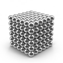 Конструктор-головоломка GTM Neocube Pro+ 216 шариков Silver