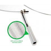 Cкоростная кроссфит скакалка VelaSport Тренажер c регулировкой Алюминий 3м. Диаметр 3мм. с подшипниками и стальным тросом Сверхпрочная Серебро
