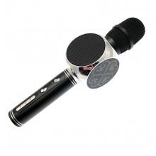 Беспроводной Bluetooth микрофон для караоке DM High Quality YS-63 Original  с мощными колонками и функцией изменения голоса Black silver