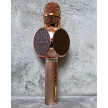 Беспроводной Bluetooth микрофон для караоке DM High Quality YS-63 Original  с мощными колонками и функцией изменения голоса Rose Gold
