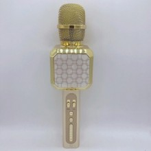 Беспроводной Bluetooth микрофон для караоке DM High Quality YS-05 Original  с модулятором голоса, мощными колонками и функцией изменения голоса Gold