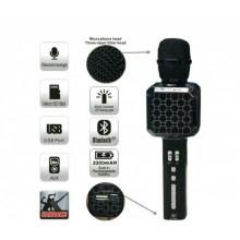 Беспроводной Bluetooth микрофон для караоке DM High Quality YS-05 Original  с модулятором голоса, мощными колонками и функцией изменения голоса Black