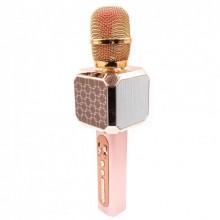 Беспроводной Bluetooth микрофон для караоке DM High Quality YS-05 Original  с модулятором голоса, мощными колонками и функцией изменения голоса Rose