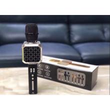 Беспроводной Bluetooth микрофон для караоке DM High Quality YS-05 Original  с модулятором голоса, мощными колонками и функцией изменения голоса Black silver