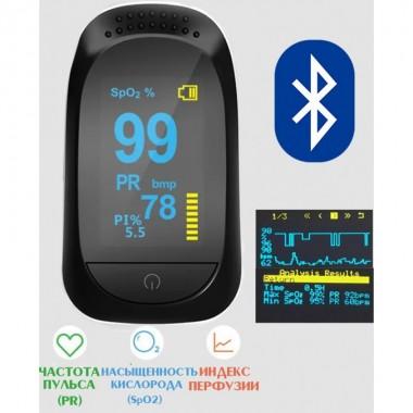 Bluetooth Пульсоксиметр оксиметр на палец IMDK Medical A2 пульсометр для сатурации прибор для измерения пульса и уровня насыщения кислорода Приложением